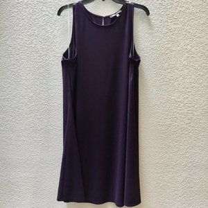 Anne Klein Sleeveless Shift Dress in Eggplant - 16